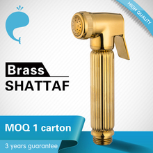 Luxury golden bidet shattaf muslim shower spray brass