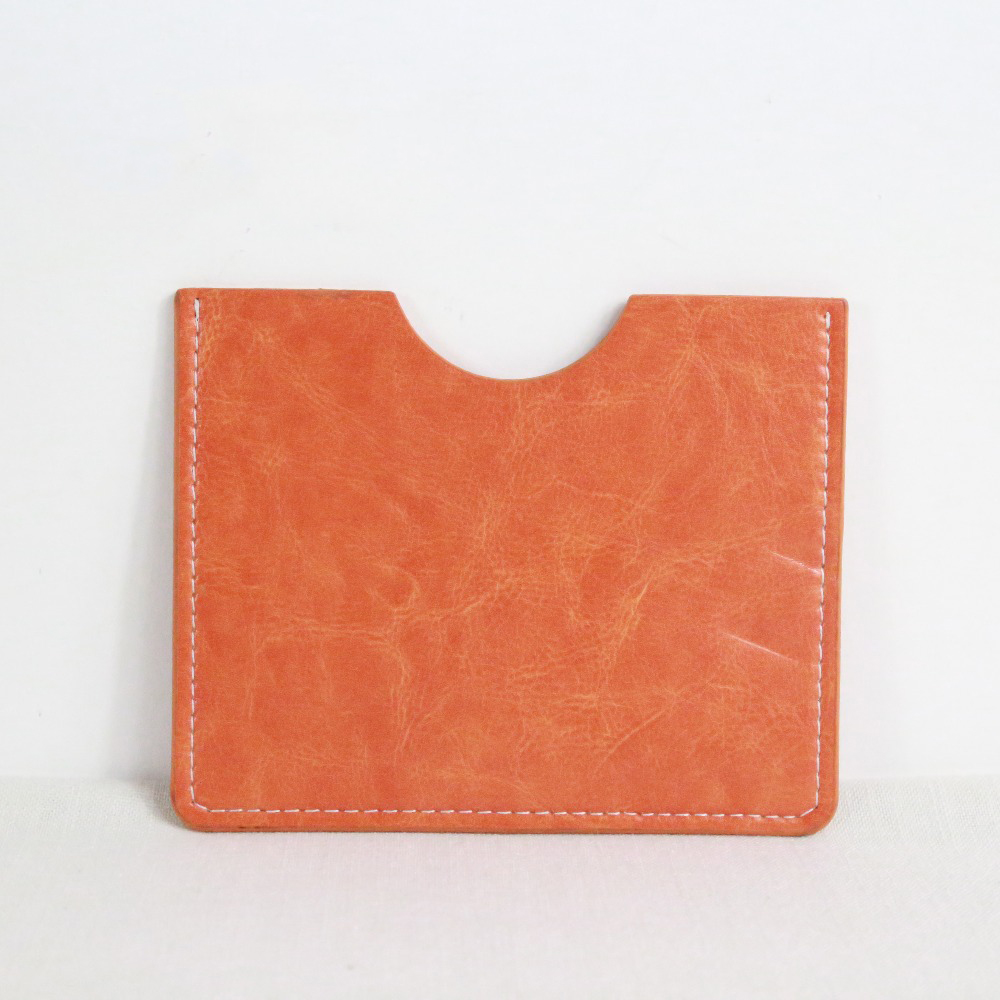 Faux leather 4x6 orange wedding photo album
