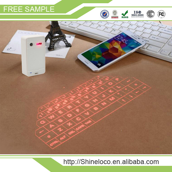 Portable Virtual Laser keyboard Wireless Bluetooth USB HID Laser Projection Keyboard for Smart Phone PC Tablet Laptop