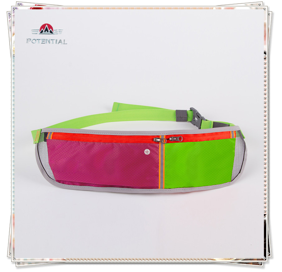 Cool super bright flashing protection training sport gym bag waist belt