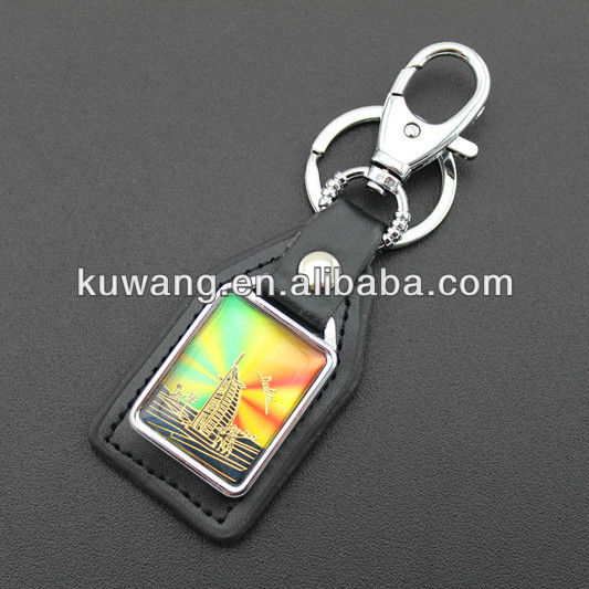 Dubai Souvenir Leather Keychain