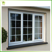 White color latest window designs with window grill design pictures/ aluminum casement window
