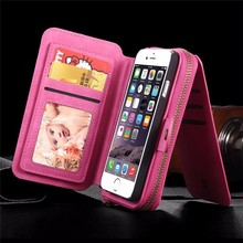 Multifunction Wallet Leather Case For Samsung S5/S6/S7/EDGE/NOTE4/NOTE5 For IPhone 5S/6 Plus/7 Plus Pouch Phone Handbag Cover