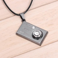 Camera Shaped Boys Necklace ,Gifts Jewelry #QNN1021