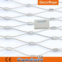Candurs AISI 316 Flexible Stainless Steel Diamond Cable Netting