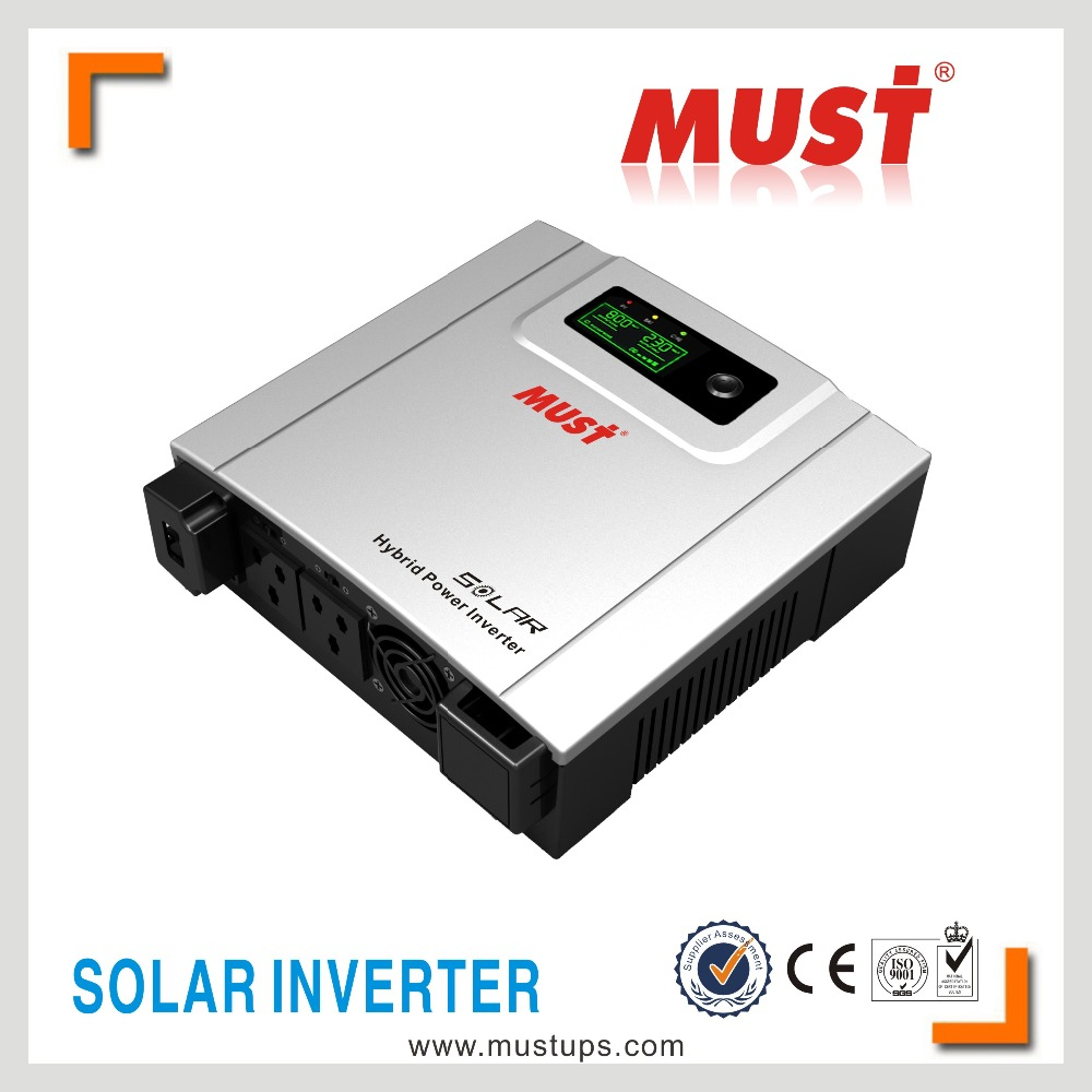 PV1100 series LED+LCD solar hybrid modified sine wave solar inverter with 30A PWM controller