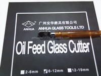 Oil feed tungsten carbide glass cutter