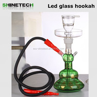 Factory wholesale smoking tool electric charcoal hookah colorful glass hookah pipe