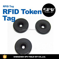 Encoded QR Code/Logo RFID Mini Button Tag With Factory Price