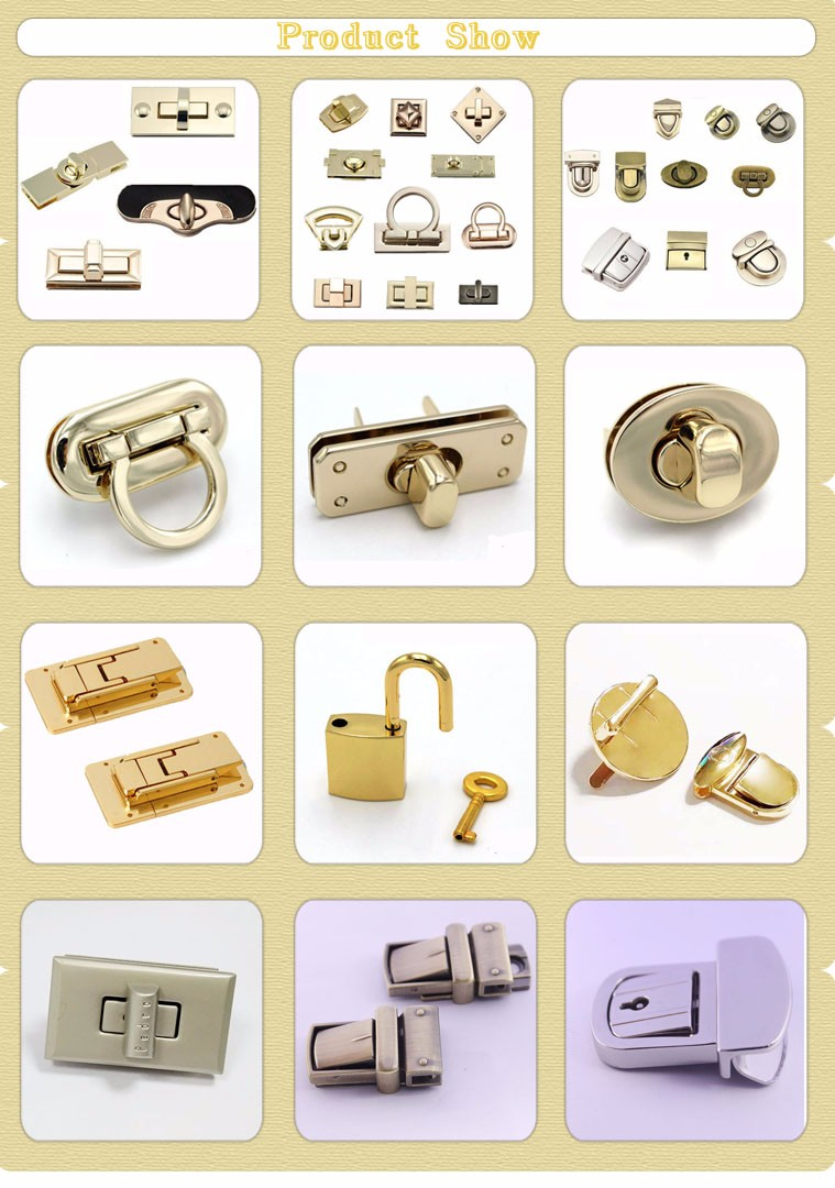 Hot Sale Volume Produce Purse Turn Twist Lock Hardware For Handbags Or Bags