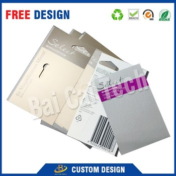 Custom new fashion waterproof kraft paper hang tag for clothing