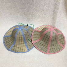 sunscreen UV protection folding Linen mixed grass straw sun hat