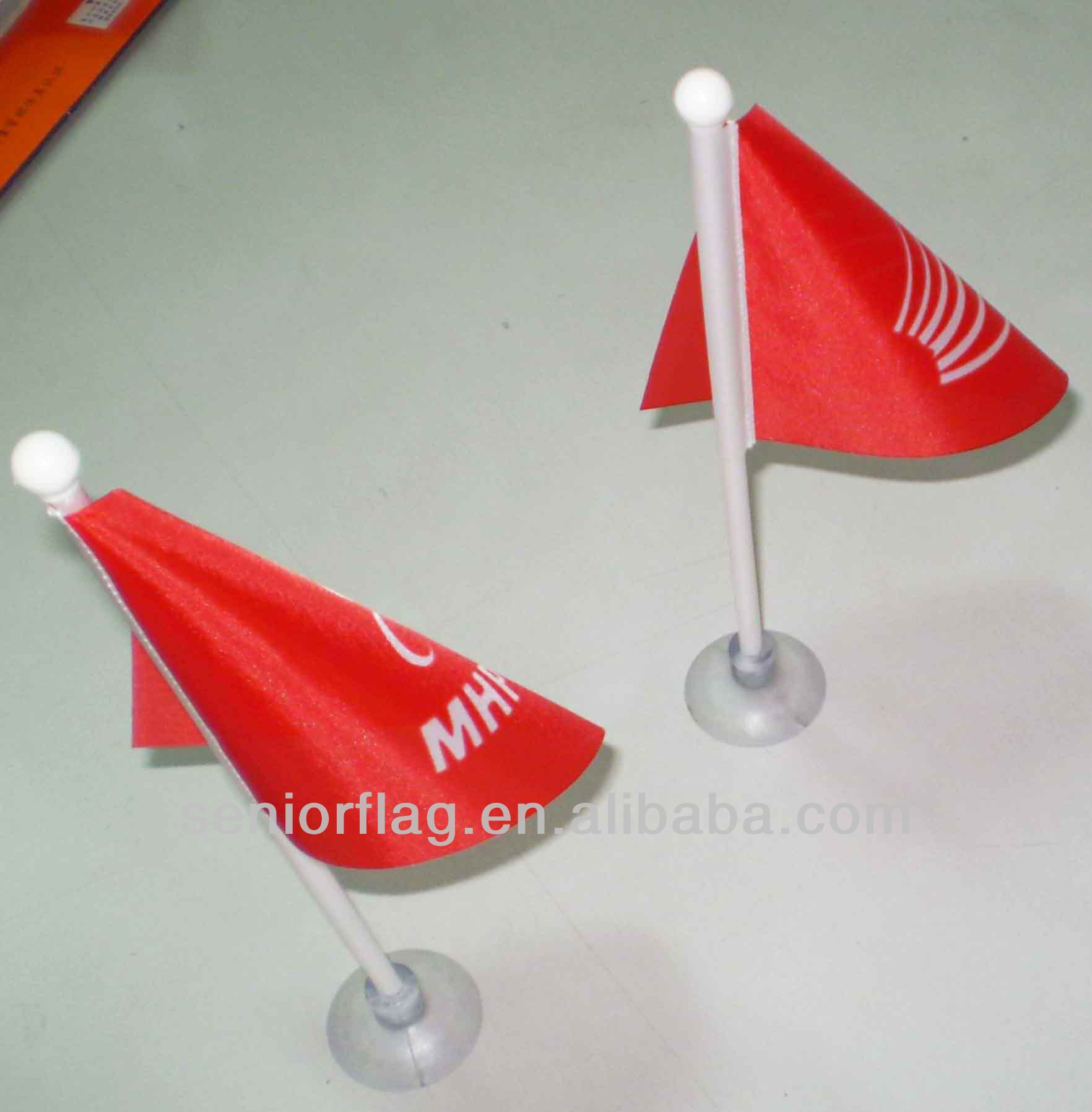 Mini suction cup flags car window flags