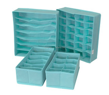 Closet Underwear Organizer Boxes Foldable Bra Sock Underwear Drawer Organizer