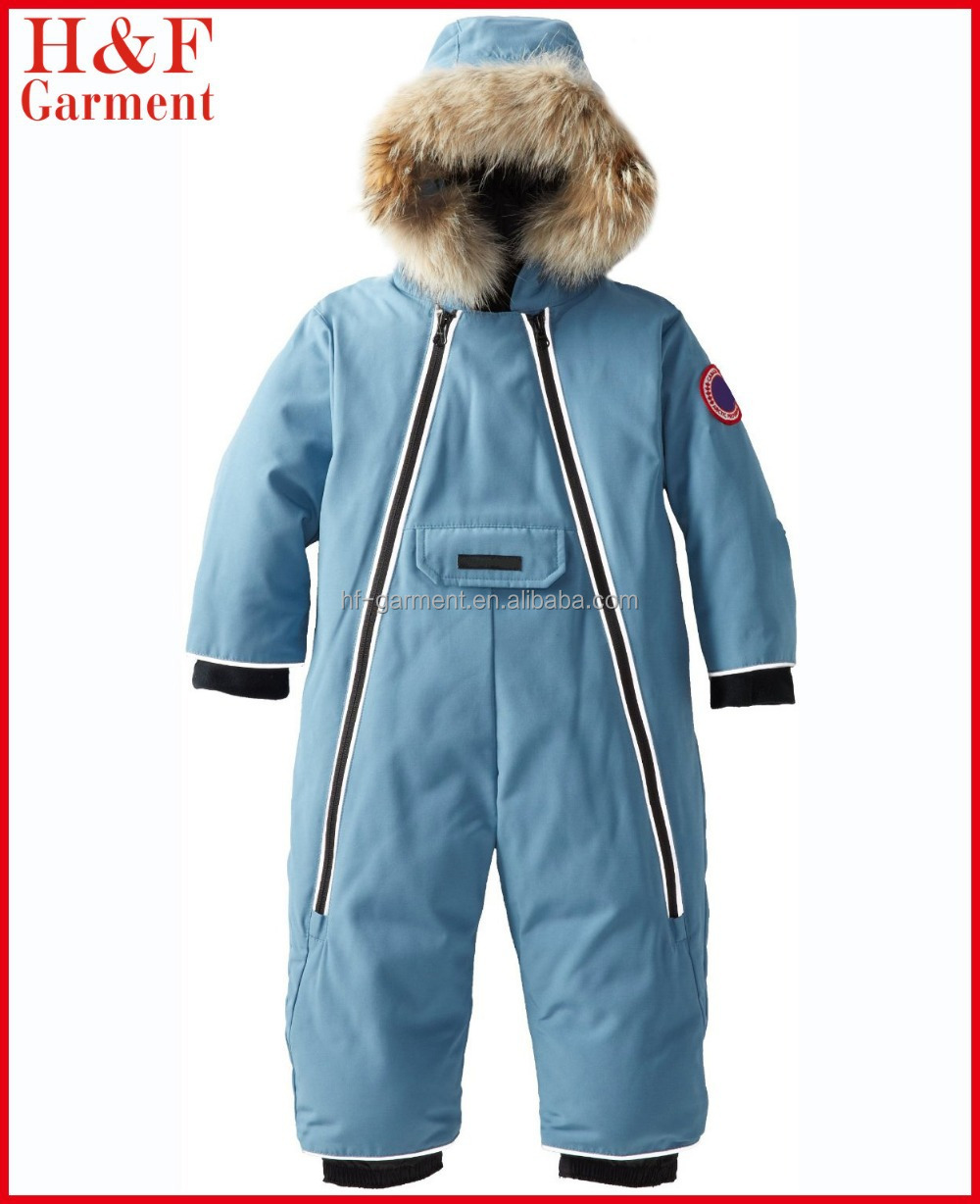 Infant clothing winter customized coveralls insulated in blue
