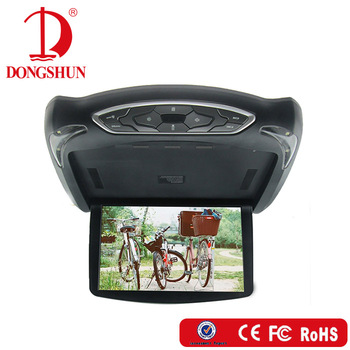 13.3 inch interchangeable front cover with entertainment system roof monitor+IR transmitter+TV+remote control