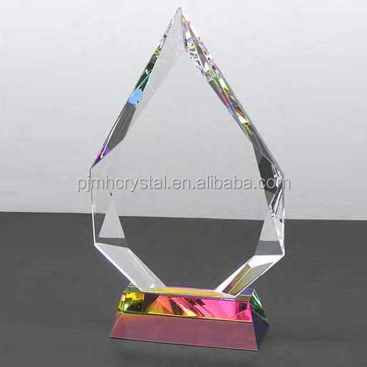 beauty engraved crystal award business meeting gift plaque crystal decoration trophy