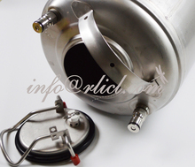 Stainless Steel 304 Ball Lock Cornelius style Beer Keg - 12 Litre/3Gallon, Lid with Pressure Relief Valve, New, Homebrewing