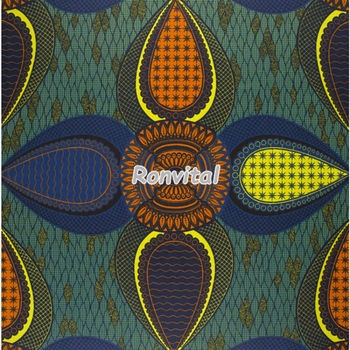Most popular high-quality african wax prints cotton fabric 6yards Item No.060304