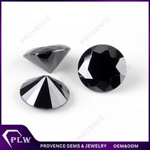 Wholesale Prices Synthetic Loose Gemstones Round Natural Black Spinel