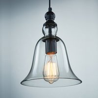 1 Light Vintage Hanging Big Bell Glass Shade Ceiling Lamp Pendent Fixture