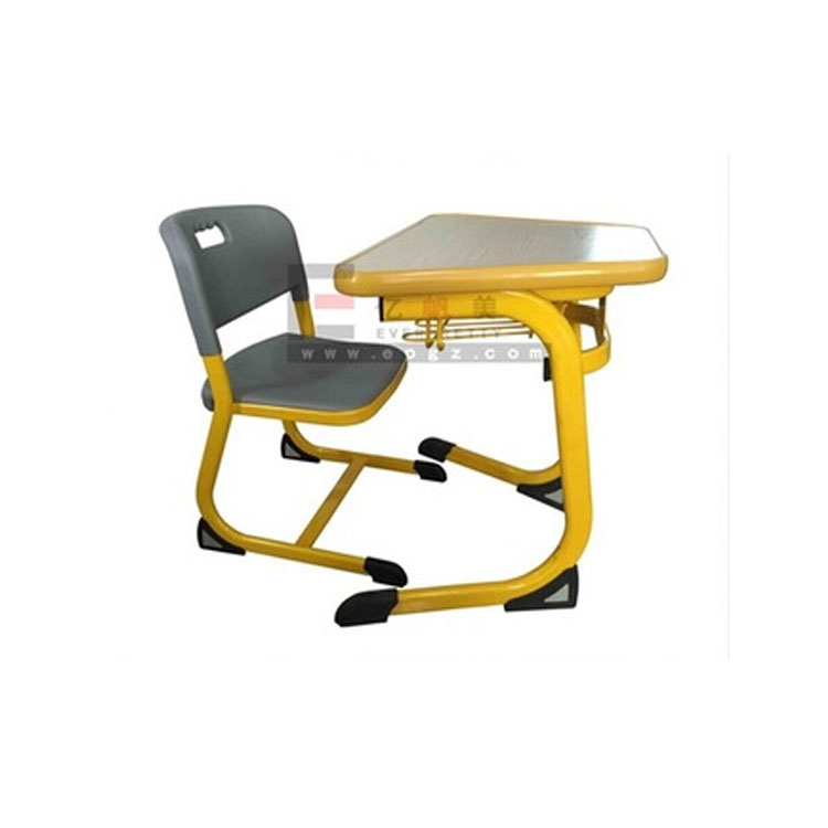 Hot selling school furniture student single kids study table and chair