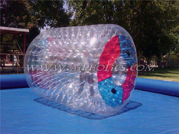 Cheap and promotional outdoor giant customized color water walking roller inflatable, roller bubble roller for swimming pool