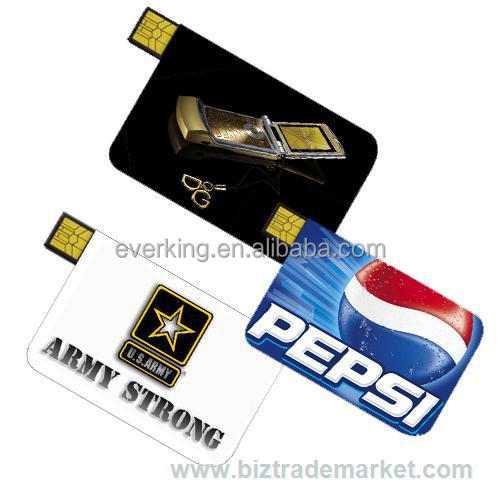 high quality credit card USB flash drive in COB Chip