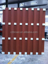 Cheap wood plastic composite fence panels easily assembled decorative garden fencing WPC fence