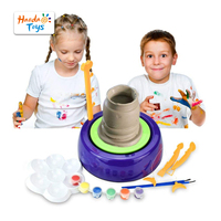 Educational Toy Do Art Pottery Studio Clay DIY Toy Pottery Wheel Craft Kit for Kids