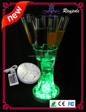 Round SMD LED Floral vase light base multi-color RGB table centerpiece light for decoration