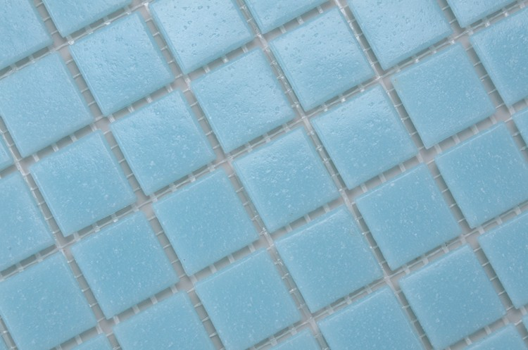 2015 popualr blue gold line series glass mosaic for bathroom