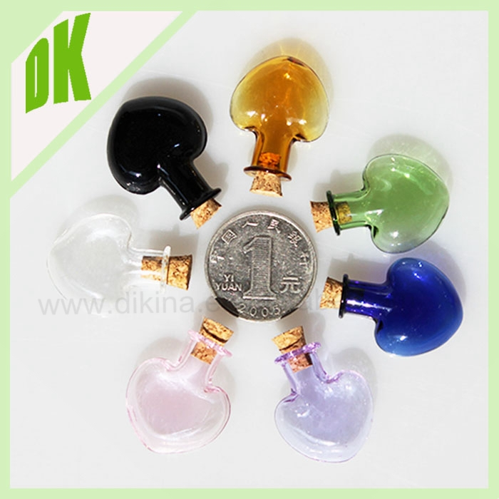 Clear Glass Bottle Vial 50ml w/ Wooden Airtight / glass heart perfume bottles 50 ml = wholesale mini glass perfume bottles 50 ml