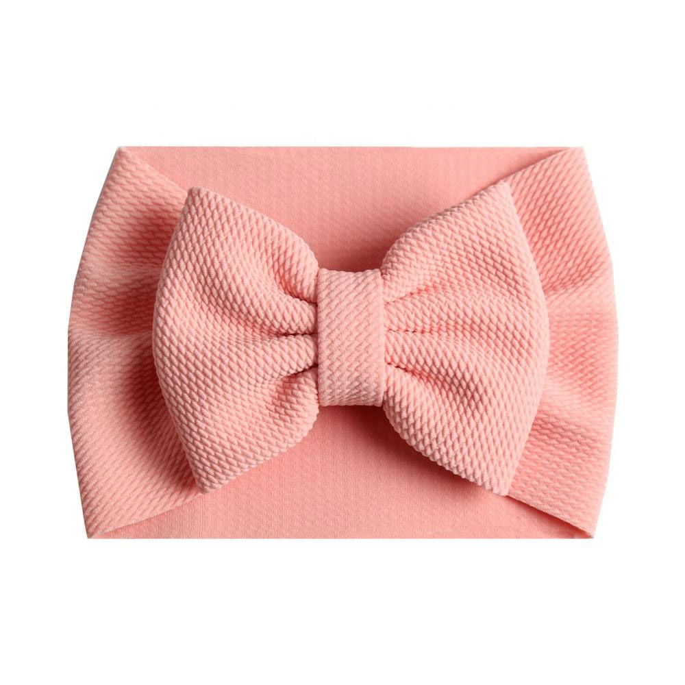2019 New Baby Turban Popular 5'' Big <strong>Hair</strong> Bow Headband For Girls Headwrap Textured Fabric Elastic Kids DIY <strong>Hair</strong> <strong>Accessories</strong>