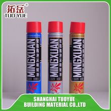 Best Selling window door construction 500ml 750ml PU Expanding Polyurethane Insulation Spray foam sealant