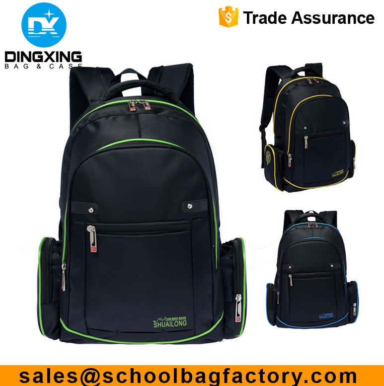 High quality laptop backpack bag computer bag high class student school bag