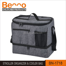 Multi-functional Insulated Double Stroller Bag Stroller Organizer-
