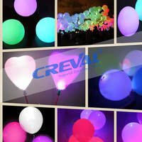 High quality Christmas custom inflatable helium led light up balloon
