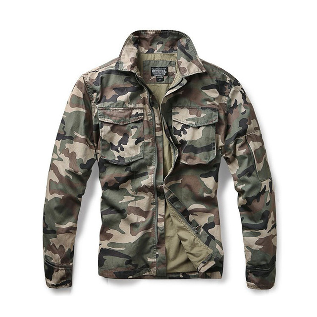 Custom men's army camouflage sport jacket