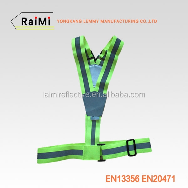 High visibility custom reflective safety belt for sport