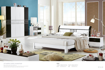 2016 Special design bedroom set is made by E1 high glossy MDF for bedroom furniture