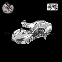Nanyuan New design 3D metal Jigsaw puzzle Hyper Sports Vehicle model