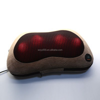 fashion latex sleeping health car and home use massage neck kneading with heating pillow