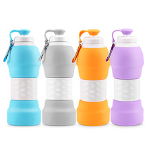 BPA Free Expandable Folding Collapsible Travel <strong>Sports</strong> Drinking Silicone Foldable Water Bottle