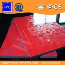 High Glossy Embossed Design Metal UV MDF For kitchen Cabinet