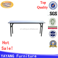 used square oval folding banquet table for sale crescent table