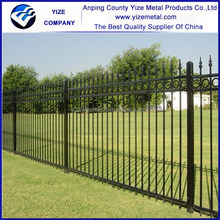 Low price Black powder coated DIY metal ornamental steel fence
