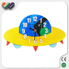School Science Lesson DIY Clock Wooden Educational Toys