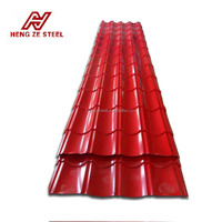 Long Span Color Coated Corrugated Roofing Sheet , PPGI corrugated roofing sheets , Color Coated Metal Roof