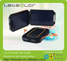 portable solar battery charger with double solar panels solar power bank foldable
